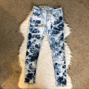 American Eagle jegging skinny jeans acid wash